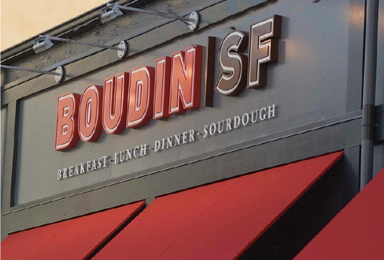 Boudin SF Restaurant Exterior Sign