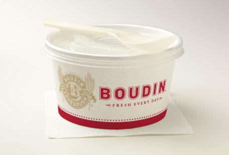 Boudin to-go soup container