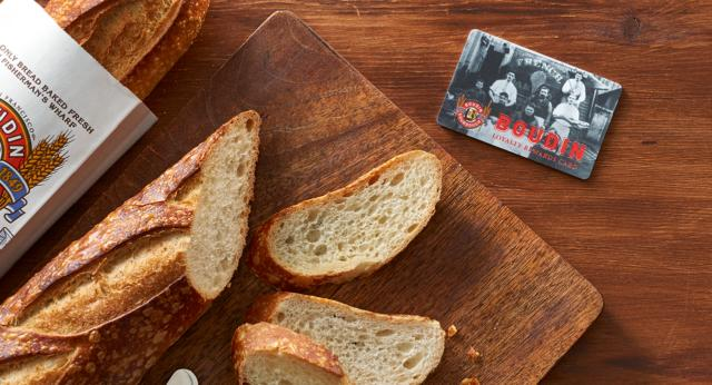 Boudin Sourdough bread and Loyalty Rewards Card